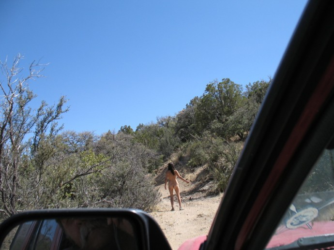 Ever think about hitch hiking nude?}