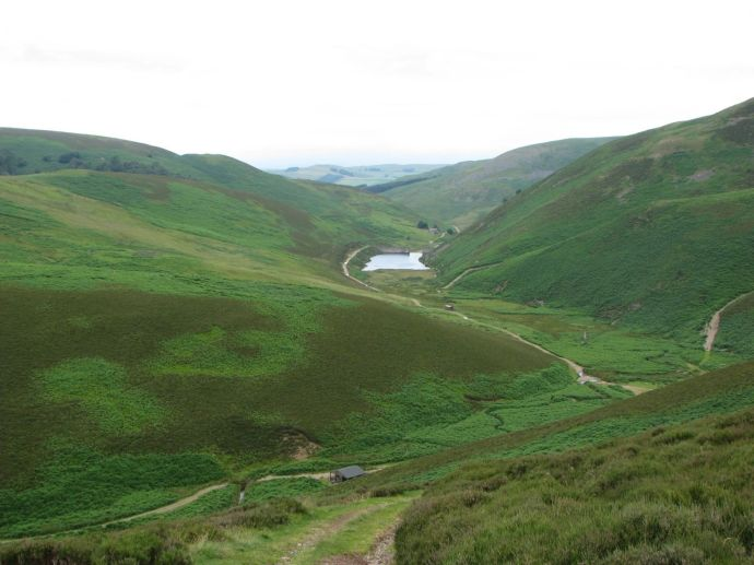 Looking down on Heatherhope reservoir from Phillip   Hope