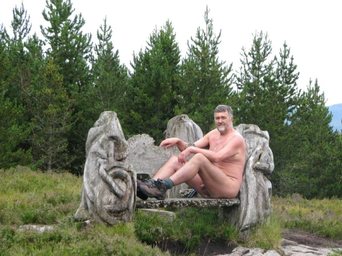 Milfmog and Bench in Abriachan Forest
