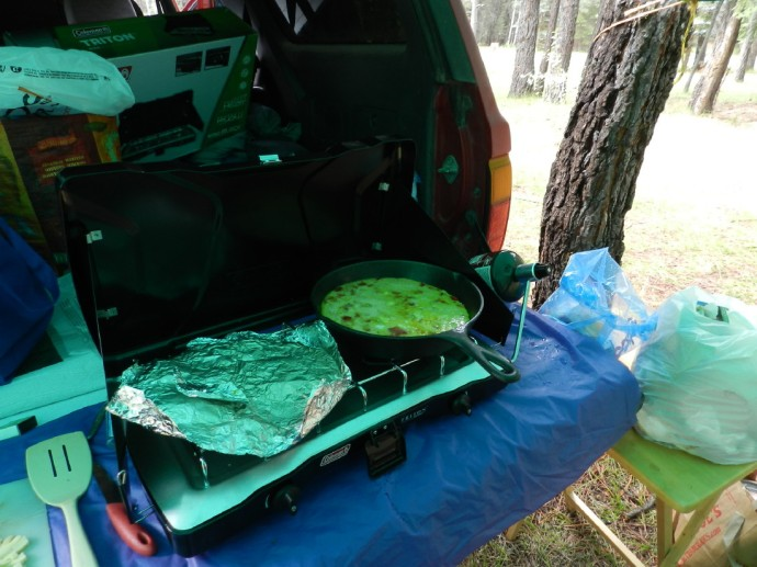 Omelet on Tailgate Kitchen