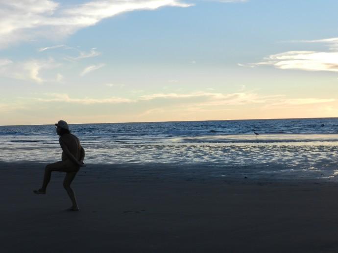 Me Imitating that Bird at Sunset