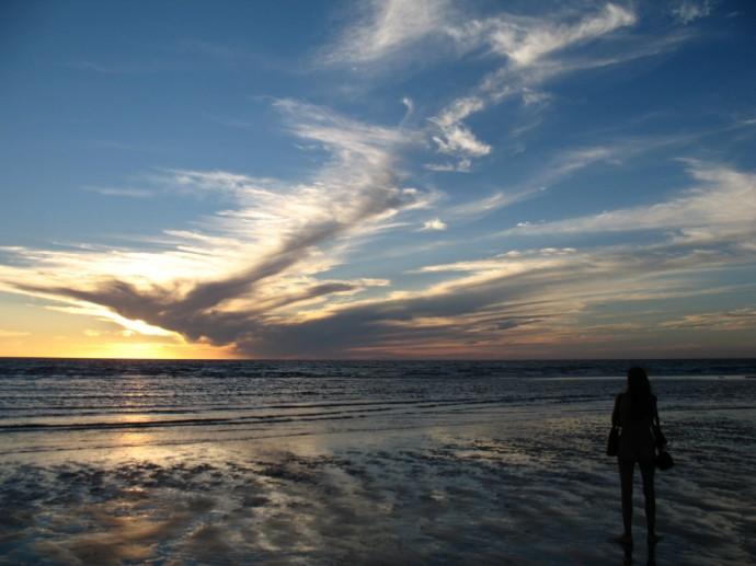 An Angel Flies Across the Sunset